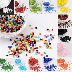 50g 2mm 3mm 4mm Mini Opaque Color Round Loose Glass Beads Se