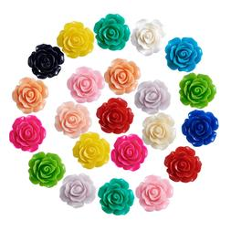 50pcs Flower Resin Beads Findings For DIY Jewelry Making Des
