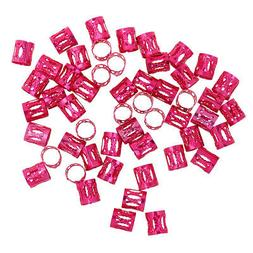 50pcs/pack Metal  Braiding Beads for Hair Accessories Multic