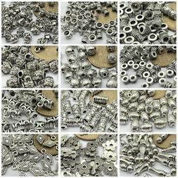 50pcs Tibetan Silver Metal Alloy Charms Loose Spacer Beads J