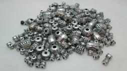 Bead Landing 56gms Plastic Old World Bead Mix - Metallic Sil
