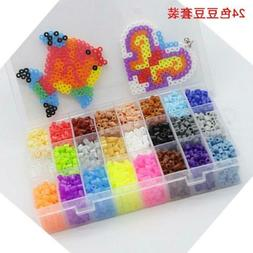 5mm 24 Colors EVA Hama Beads Set DIY Mini Perler Beads DIY T