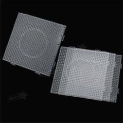5MM Clear Square Pegboards Board For Perler Hama Beads Peg B
