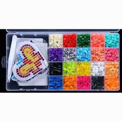 5mm EVA Hama Beads Set DIY Mini Perler Beads Pegboard Jigsaw