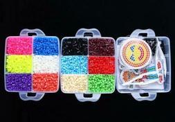 5mm EVA Hama Beads Set DIY Mini Perler Beads Pegboard Jigsaw