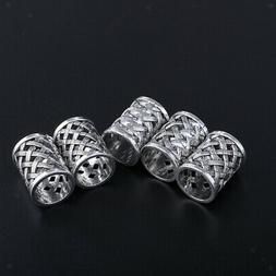 5Pcs Craft Loose Spacer Beads Large Hole for DIY Bohemia Hai