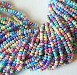 6/0 Picasso Tie Dye Rainbow Mix Czech Seed Beads, 4mm Precio