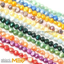 6-7mm Freeform Freshwater Pearl Stone Beads For Jewelry Maki