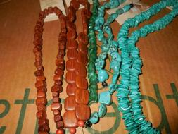 6 NATURALS BLUE MOON BEADS SALE JADE, SHELL, TURQUOISE & WOO