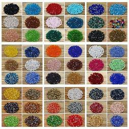 600pcs Exquisite 4mm Bicone Loose crystal beads for Jewelry
