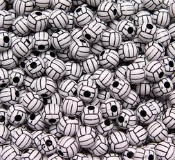 60pc VolleyBall Beads for school sports jewelry necklaces br