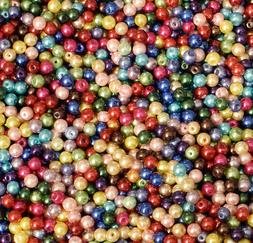 6mm Glass Pearl Round Bead, 2 Pounds BULK