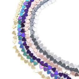 6MM Natural Heart Shape Hematite Beads For Jewelry Making DI