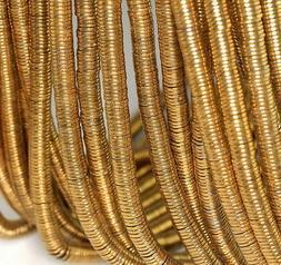 6X1MM GOLD HEMATITE GEMSTONE SLICE HEISHI ROUND DISC 6X1MM L