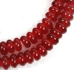 6x3mm Carnelian Agate Rondelle Beads