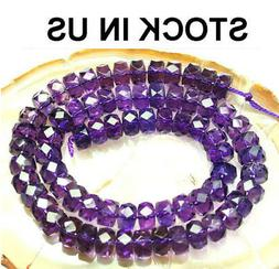 6x9mm Amethyst Rondelle  Faceted Beads 25pcs