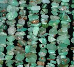 7-8MM  CHRYSOPRASE GEMSTONE PEBBLE NUGGET CHIP LOOSE BEADS 1
