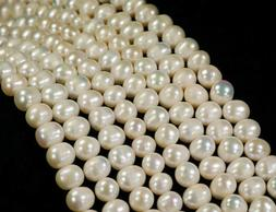 7-8mm Genuine Natural White Akoya Freshwater Pearl Loose Bea