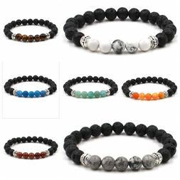 "7"" Fashion Men Women Handmade Healing Crystal 8mm Beads Chak"