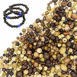 700 PCS Wooden Beads for Jewelry Making Adults, Assorted Afr