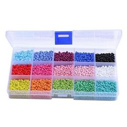 7000Pcs In Box 15 Multicolor Assortment Glass Seed Beads Opa