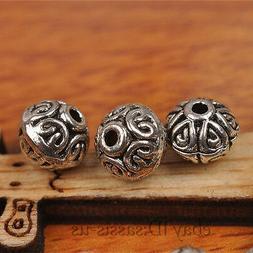 70pcs 7mm Bicone Tibetan silver Bead Spacer DIY Jewery Makin