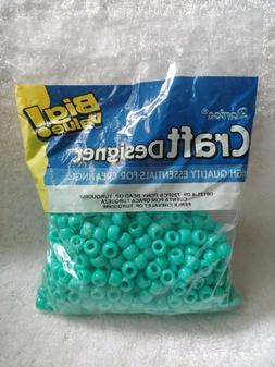 720 Turquoise Pony Beads - baby blue craft hobby activity br