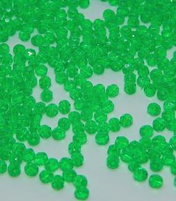 790 pcs 4mm Darice Acrylic Faceted Beads-Xmas Green-Made In