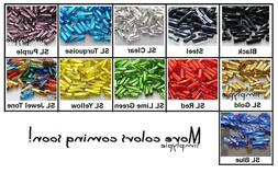 7mm Twisted Bugle 10-Grams Preciosa Czech Glass Beads Tubes