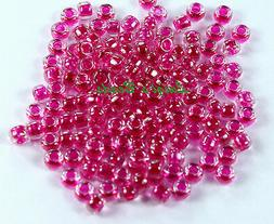 8/0 Round TOHO Japanese Glass Seed Beads # 350-Crystal/Fuchs