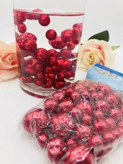 75 Red Pearl assorted size Vase Filler  Beads for Wedding De