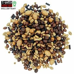 800 PCS Craft Wood Beads for Jewelry Making Adults, Wooden B