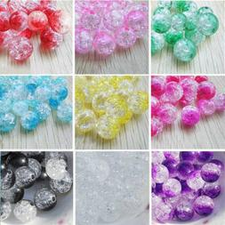 8mm 100pcs acrylic round pearl spacer loose