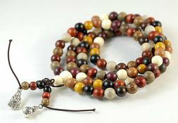 8mm 108PCS Natural Mix Wood Mala Meditation Loose Beads Roun
