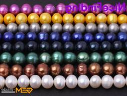 8mm-11mm Freshwater Pearl Round Beads For Jewelry Making Gem