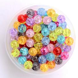 8mm Crackle Beads Acrylic Loose Beads DIY Jewelry For Bracel
