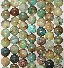 8MM GENUINE SHATTUCKITE CHRYSOCOLLA GEMSTONE GRADE A ROUND L