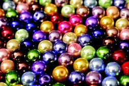 8mm Glass Pearl Round Bead, 2 Pounds BULK