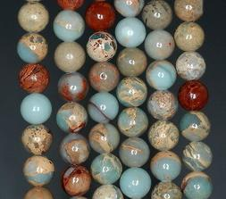 8MM SEA SEDIMENT IMPERIAL JASPER GEMSTONE ROUND 8MM LOOSE BE