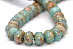 8x5MM Natural Faint Blue Sea Sediment Imperial Jasper Beads