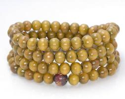 8X7MM BROWN YELLOW SANDALWOOD RONDELLE LOOSE BEADS 29""