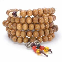 8X7MM YELLOW BROWN SANDALWOOD RONDELLE LOOSE BEADS 30""