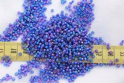 9/0 Miyuki Dark Blue AB Glass Seed Beads Crafts Jewelry Maki