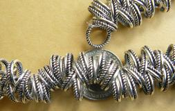 999 pure Silver bonded over Copper Large hole beads 12mm wit