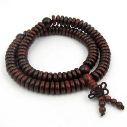 9mm*2mm Wood 108 Prayer Beads Tibet Buddhist Mala