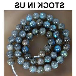 AAAA Natural Labradorite Round Beads Stretch Bracelet 4MM 5M