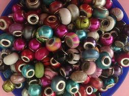 ACRYLIC METAL AND MURANO GLASS EUROPEAN BEADS SPACERS CHARMS