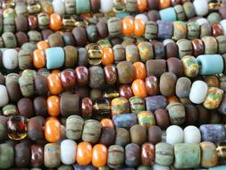 Aged Picasso Seed Beads Czech Glass Striped Picasso Color Mi