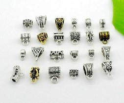 Alloy Silver/Gold/Bronze Connectors Spacer Bail Beads Charms