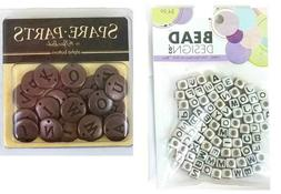 Alphabet Beads in Silver and Copper Metal for Jewelry Making